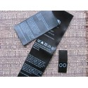 Black satin labels 25x25mm (100 pcs.)