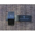 Black satin foldable labels 35x20mm (100 pcs.)