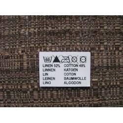 Adhesive nylon labels