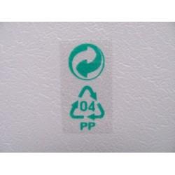 Adhesive transparent PET labels