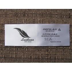 1-colour satin labels 15x13mm