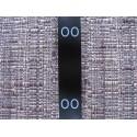 Black satin folding size labels 15x40 mm (1000 pcs.)