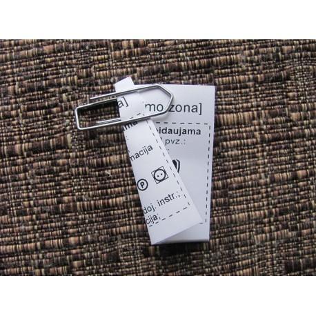 Dvipusės nailoninės etiketės