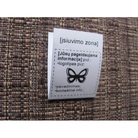 Nylon foldable labels