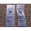 Satin labels 30x20mm (100 pcs.)