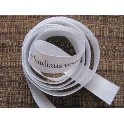 White ribbon with black prints