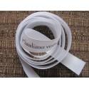 White 25mm ribbon (10 m) with black prints