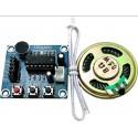 Garso įrašymo ir atkūrimo modulis su garsiakalbiu