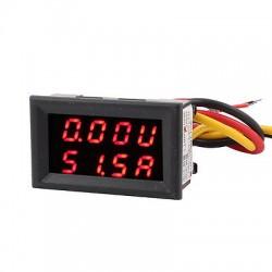 Skaitmeninis DC voltmetras 0-100V ir ampermetras 0-100A