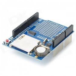 Uno duomenų saugojimo shield'as (SD + RTC + BAT + 3,3V PS)