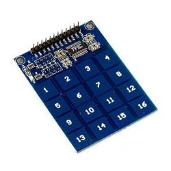 16 aikštelių lietimui jautri klaviatūra su TTP229
