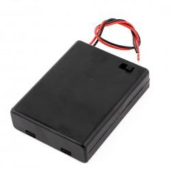 3x AA baterijų laikiklis su jungikliu