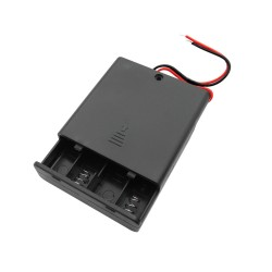 4x AA baterijų laikiklis su jungikliu
