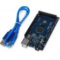 Mega 2560 R3 pagrindinė plokštė su USB kabeliu