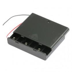 6x AA baterijų laikiklis su jungikliu