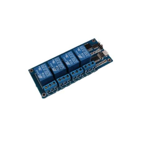 4 kanalų USB relių modulis