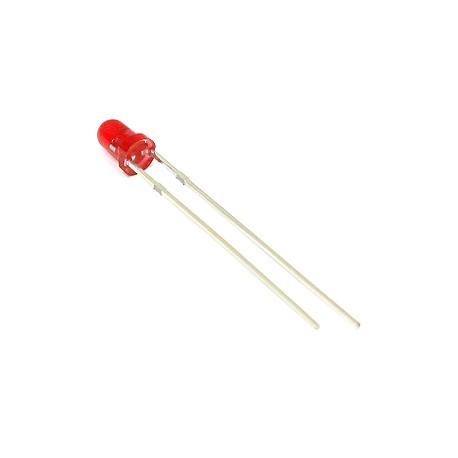 Šv. diodas 3mm raudonas/raudona šviesa