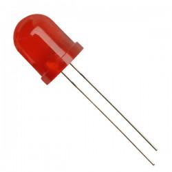 Šv. diodas 10mm raudonas/raudona šviesa