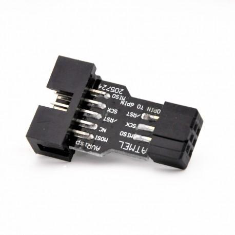 ATMEL ISP 6pin to 10pin adapteris