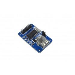 USB host modulis su CH376 (UART/SPI)