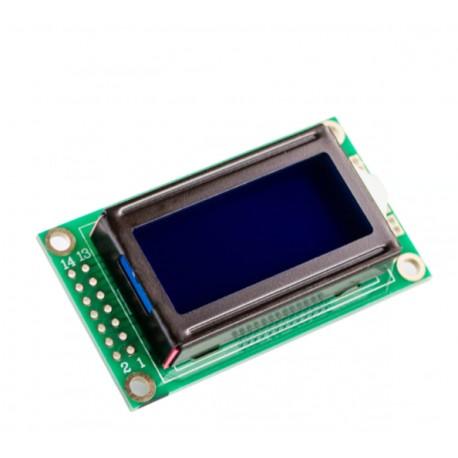 2x8 simbolių LCD modulis su mėlynu pašvietimu