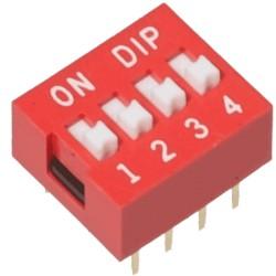 DIP mini jungiklių blokas 4j