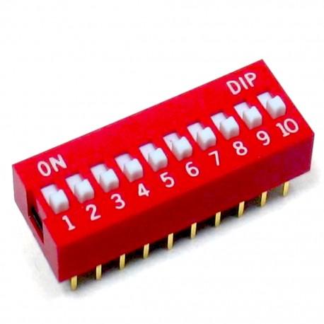 DIP mini jungiklių blokas 10j
