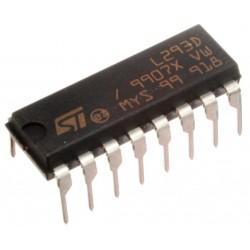 Variklių valdymo mikroschema L293D (2xH-bridge)