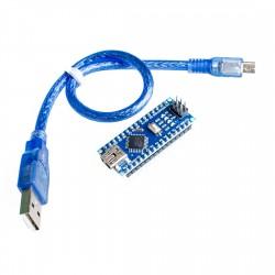 Sulituota Nano 3.0 pagrindinė plokštė ATMEGA328 su kabeliu