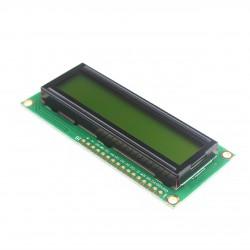 2x16 simbolių LCD modulis su geltonu pašvietimu