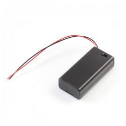 2x AA baterijų laikiklis su jungikliu