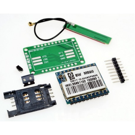 GSM GPRS modulio su M590 rinkinys su PCB antena