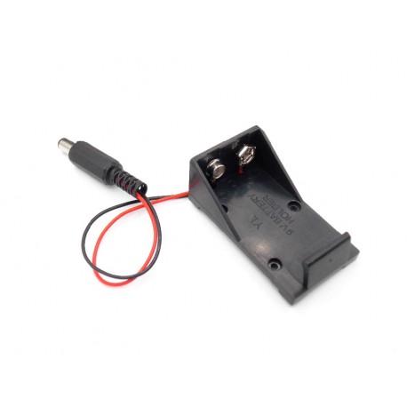 9V baterijos (kronos) laikiklis su kištuku Arduino sistemų maitinimui