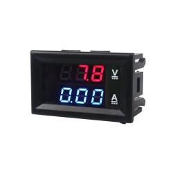 Skaitmeninis DC voltmetras 0-100V ir ampermetras 0-10A