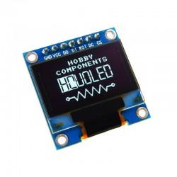 "Grafinis 128x64 0,96"" mėlynas OLED ekranas (SPI/I2C versija)"