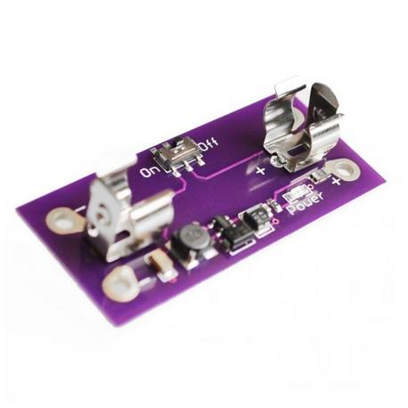 LilyPad step-up maitinimo modulis su AAA baterijos laikliu