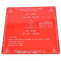 Kaitinimo plokštė RepRap Prusa 214x214 mm 12/24V