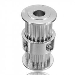 Dvigubas 20 dantų krumpliaratis 5 mm ašims (tinka Nema17) 6mm sinchronizavimo diržams GT2