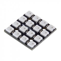 4x4 RGB LED matrica su valdikliu WS2812