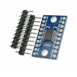 Komunikacijų sąsajos įtampų suderinimo modulis su TXS0108E