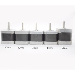 Nema 17 žingsninių variklių rinkinys 3D spausdintuvui: 4 vnt. 42SHD0217-24B ir 1 vnt. 42SHD0404-22