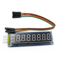 8 skaitmenų indikatoriaus modulis su 74HC595