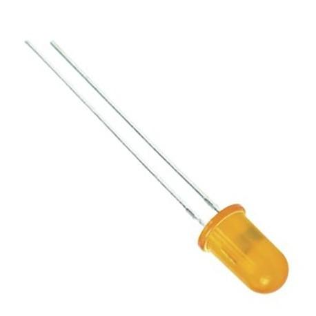 Šv. diodas 5mm oranžinis/oranžinė šviesa