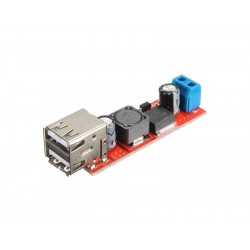 Impulsinis step-down USB 3A maitinimo šaltinis su LM2596