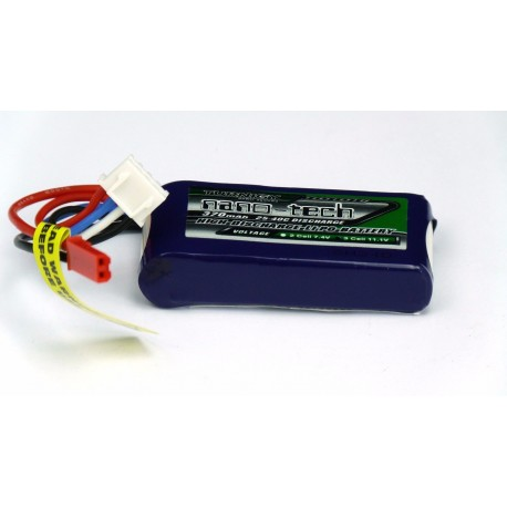 Turnigy nano-tech 370mAh 11,1V 3S 25C LiPo akumuliatorių baterija