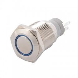 Metalinis nefiksuojantis NO+NC jungiklis su LED (mėlynas)