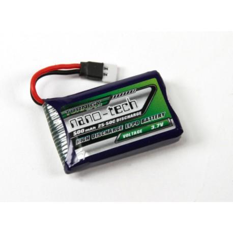 Turnigy nano-tech 500mAh 1S 3,7V 25C LiPo akumuliatorių baterija