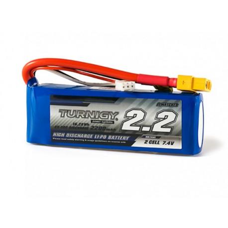 Turnigy 2200mAh 7,4V 2S 25C-50C LiPo akumuliatorių baterija