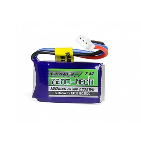 Turnigy nano-tech 180mAh 2S 7,4V 25C LiPo akumuliatorių baterija