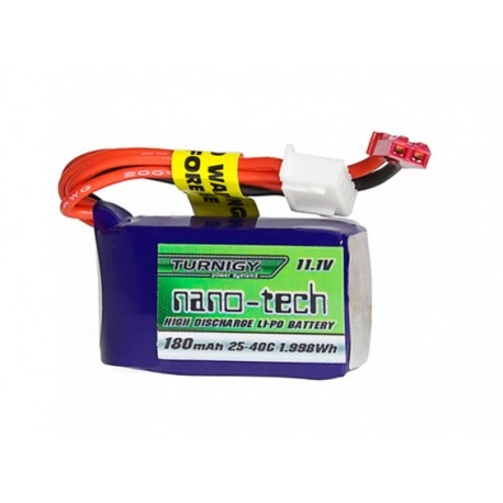 Turnigy nano-tech 180mAh 11,1V 3S 25C-40C LiPo akumuliatorių baterija